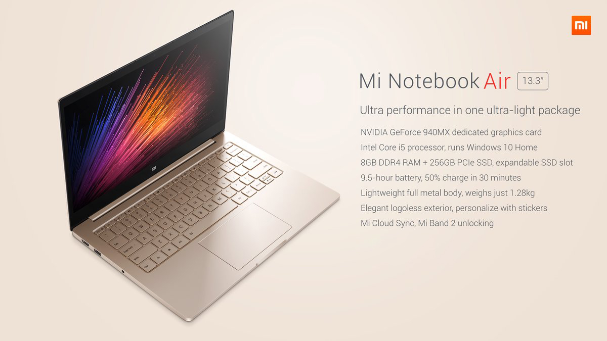 mi notebook air 13インチ