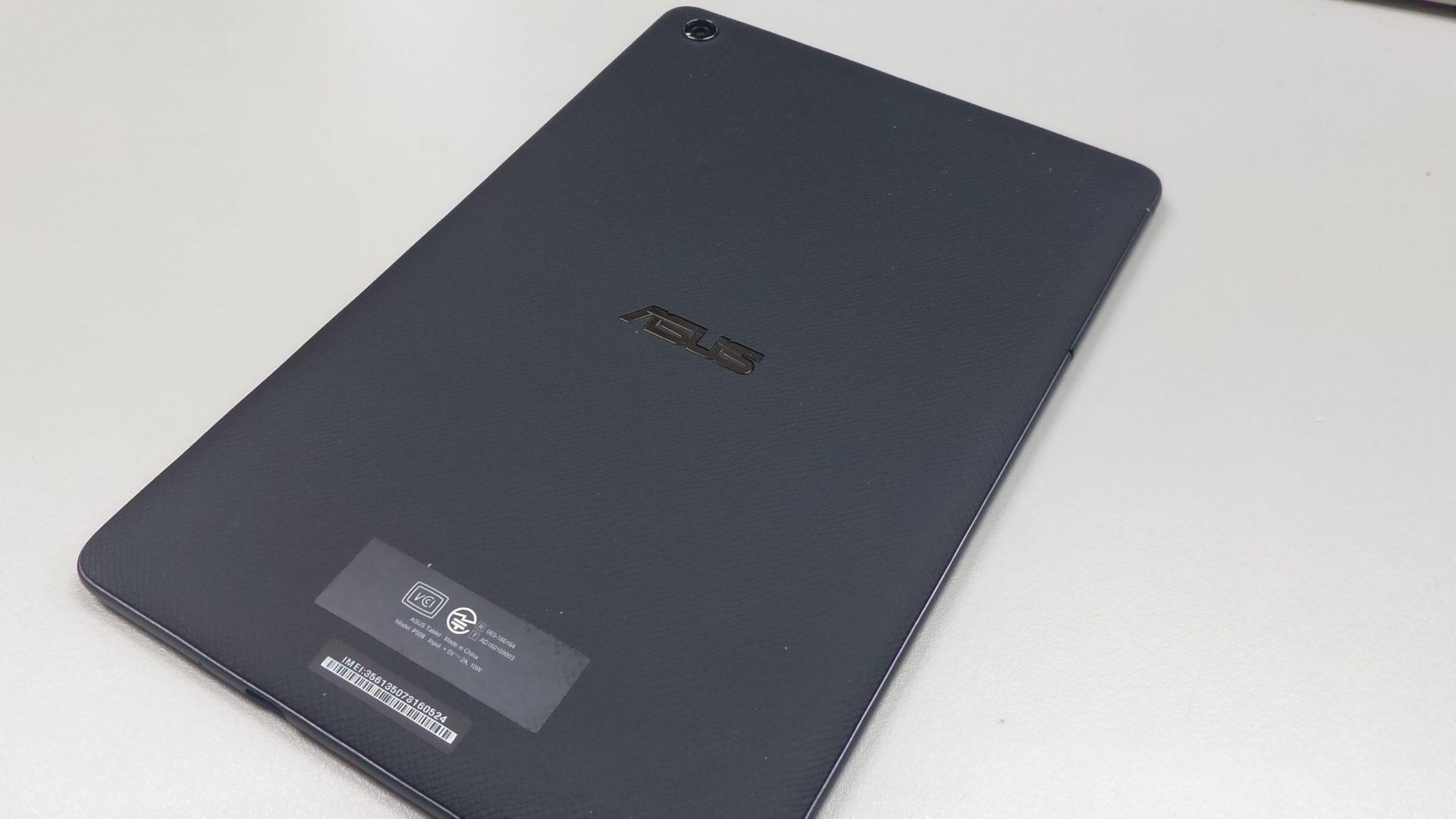 ZenPad 3 8.0の背面 レザー風