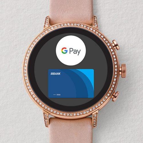 Google Payへの対応を謳うFossil sport