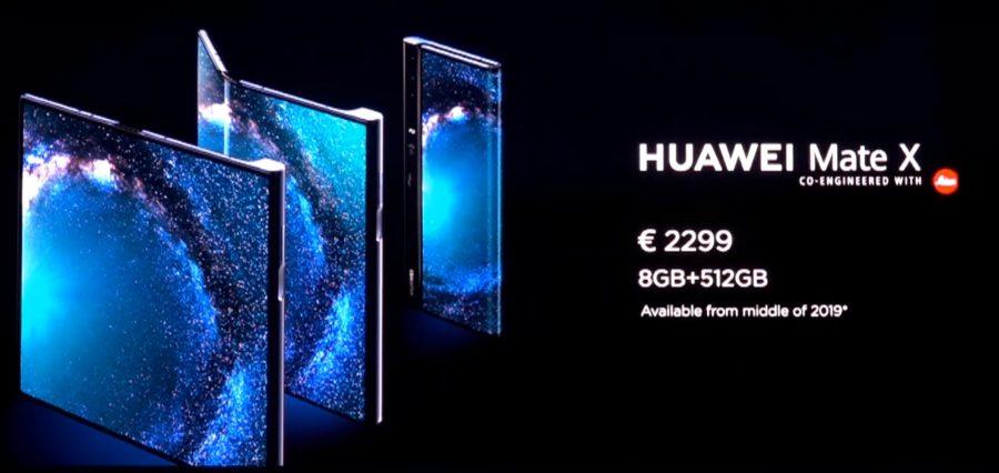 Mate Xの価格は2,229ユーロ