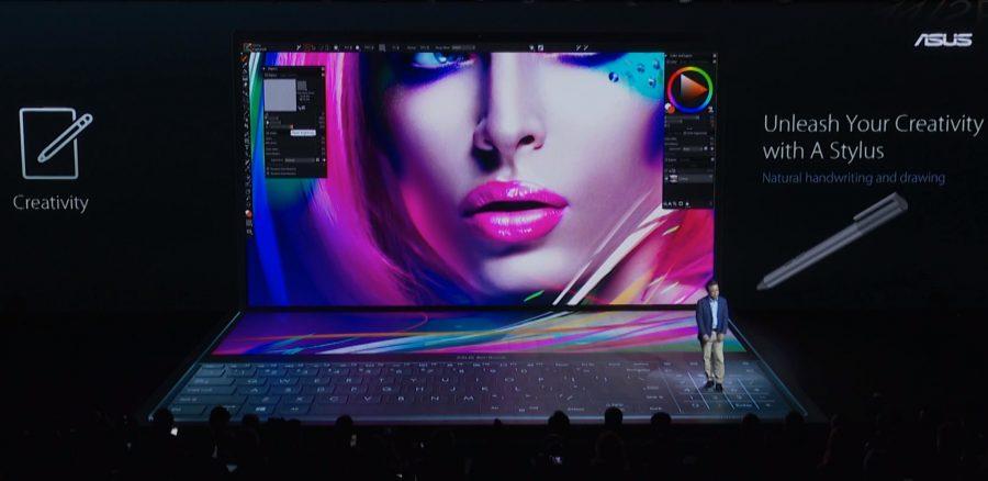 セカンドディスプレイは「ScreenPad Plus」と呼ばれる