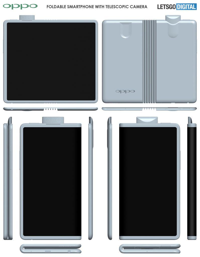 ポップアップカメラ搭載のOPPOの折りたたみスマートフォン