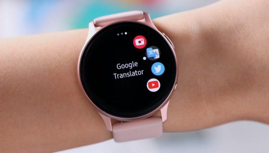 galaxy Watch Active 2に表示されるYoutubeアプリ