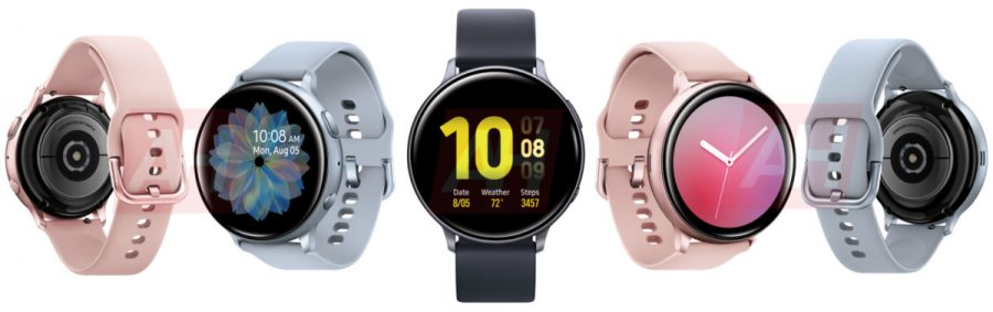 Galaxy Watch Active 2のレンダリング画像