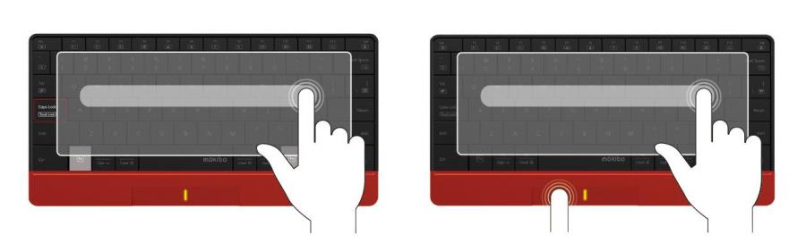 キーボード全体がタッチパッドとして利用可能