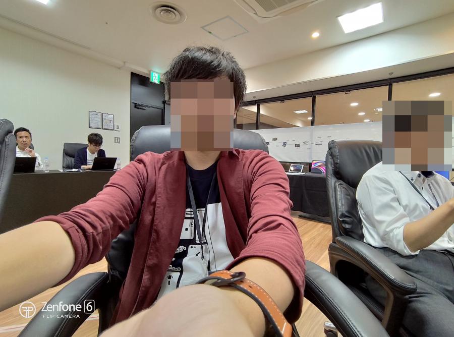 ZenFone 6の超広角カメラでのセルフィー