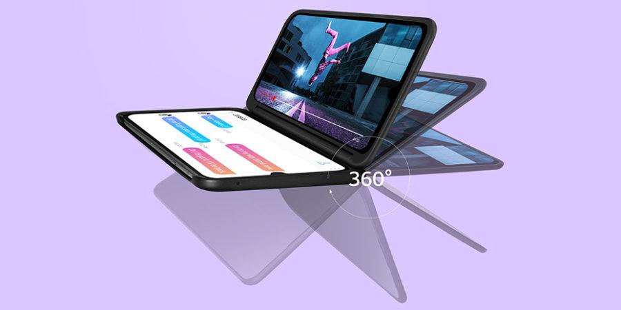 LGデュアルスクリーンは好きな位置で固定できる