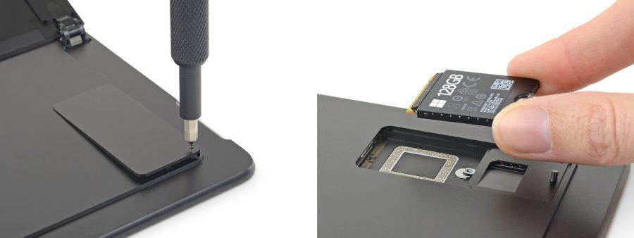 Surface pro Xは背面からSSDの換装が可能