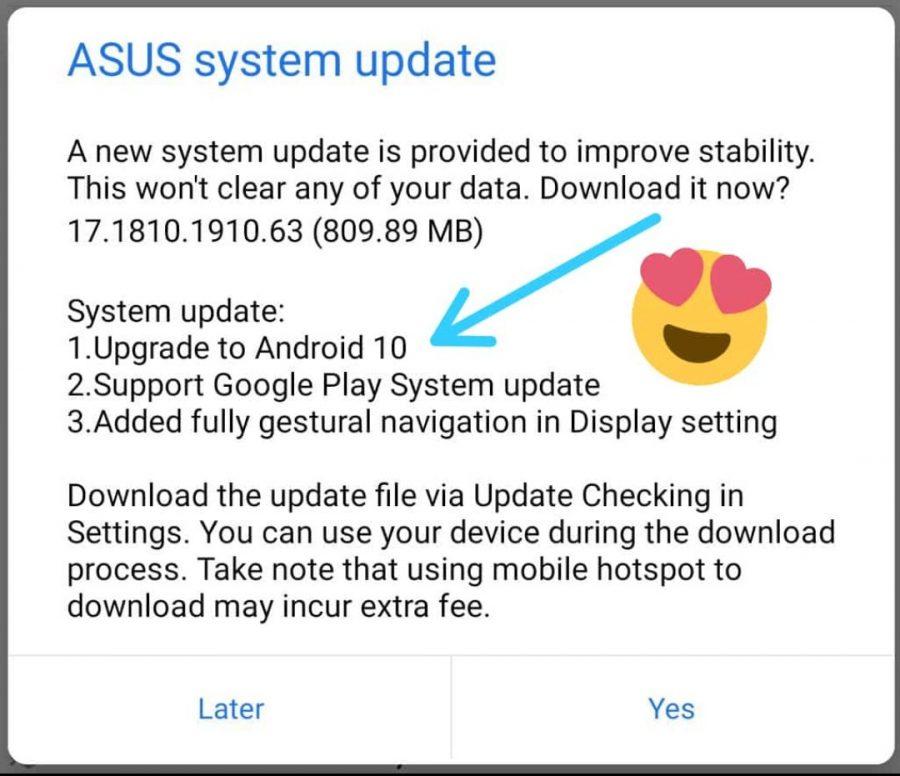 海外版ZenFone 6にAndroid 10へのアップデートが配信