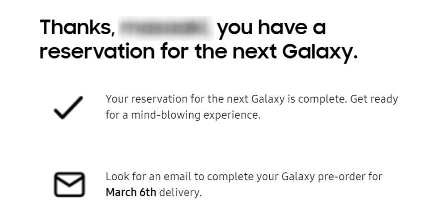 Galaxy S20シリーズ発売日のヒント