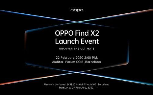 Find X2のリリースイベントへの招待状