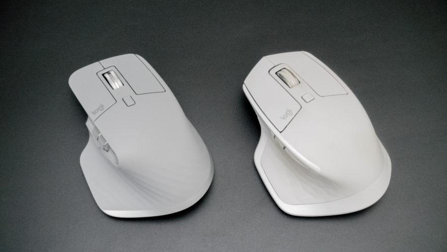 MXmaster 3と2Sのデザイン比較