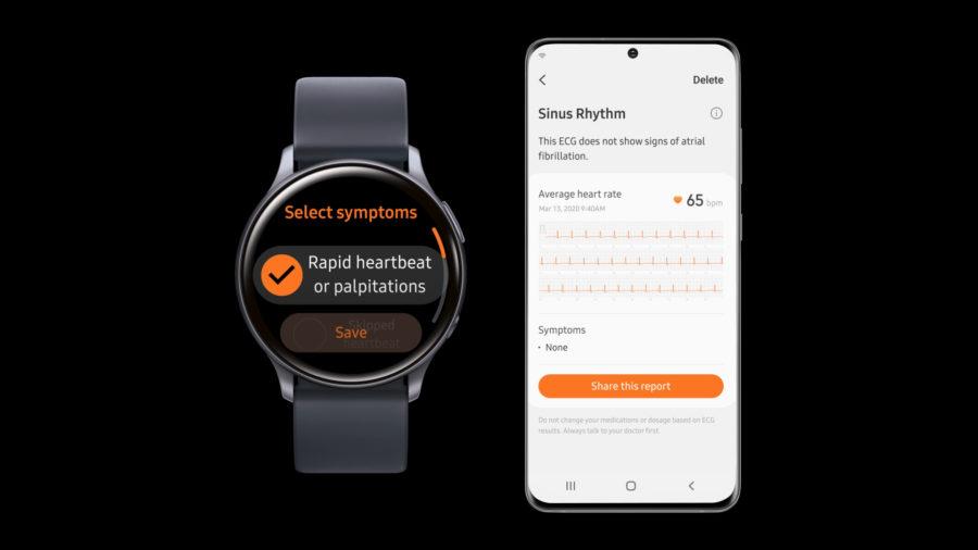 Samsung Health Monitorアプリを用いてGalaxy Watch Active2で心電図機能を利用可能
