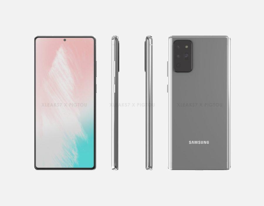 Galaxy Note 20のレンダリング画像