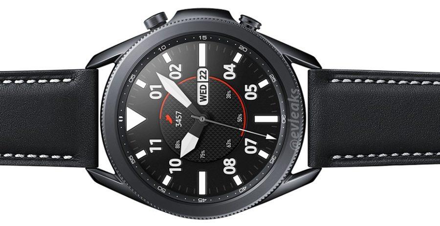 Galaxy Watch3に表示されている日付。
