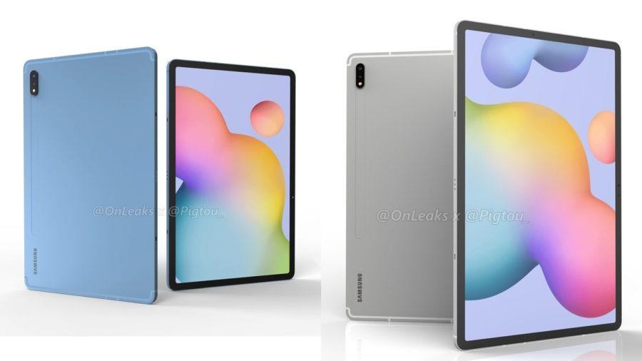Galaxy Tab S7とGalaxy Tab S7+のレンダリング画像