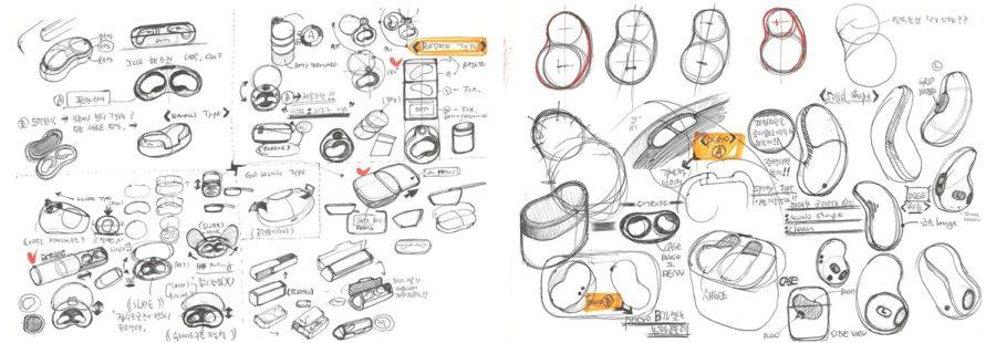 開発段階のデザインスケッチ