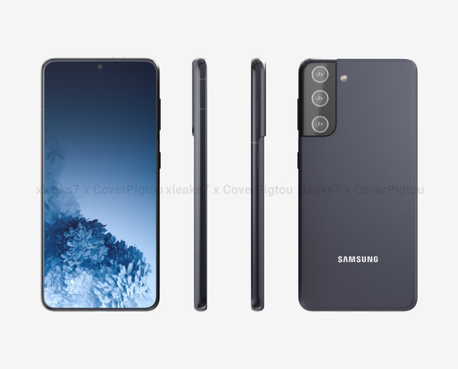 Galaxy S21のレンダリング画像