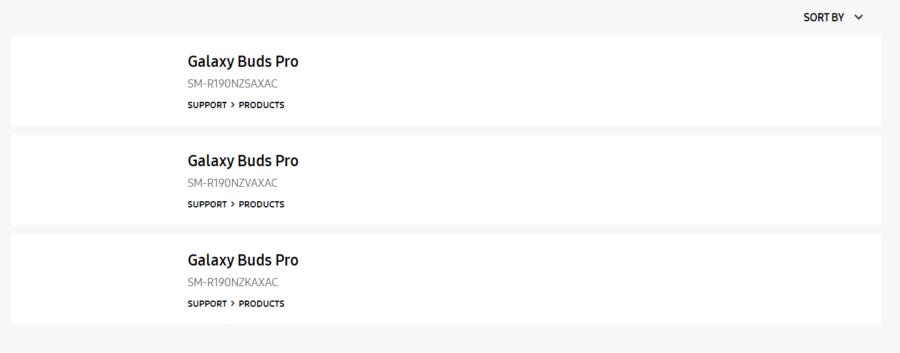 カナダのサムスン公式サイトに掲載されたGalaxy Buds Pro