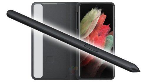 Galaxy S21 Ultra用のSペンとケースのリーク画像