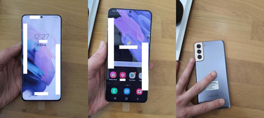 Galaxy S21+の実機画像