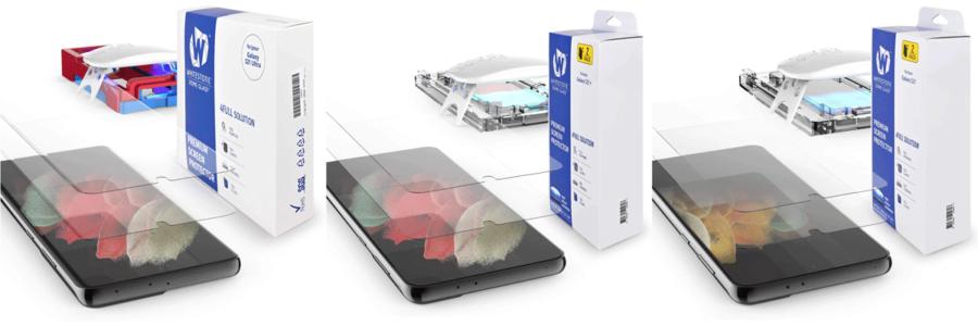 Galaxy S21シリーズ用Whitestone Dome Glass