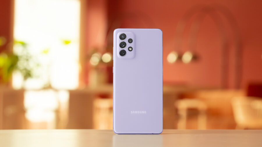 Galaxy A52の背面カメラ