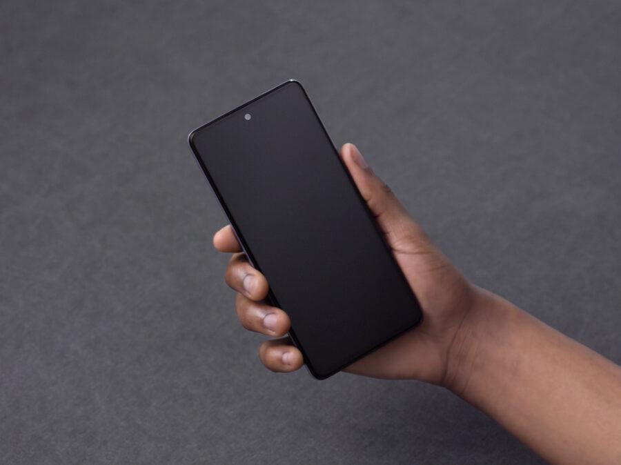 Galaxy A72のディスプレイ