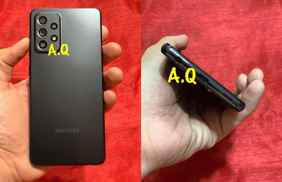 Galaxy A52の実機とされる画像