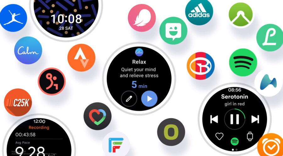 One UI WatchとGoogle Playのアプリ