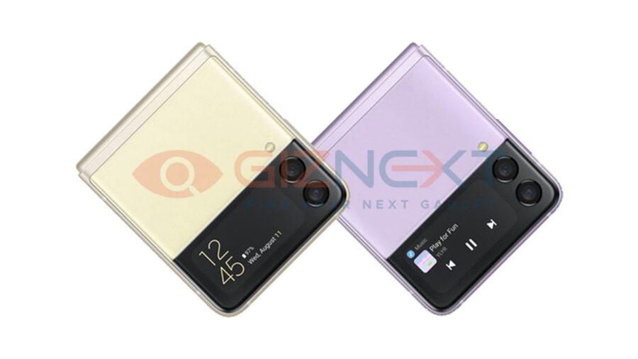 Galaxy Z Flip3のレンダリング画像