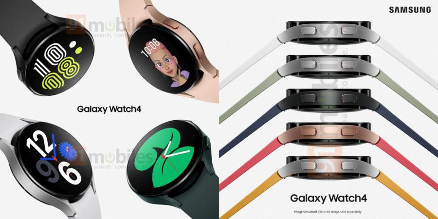 Galaxy Watch4のレンダリング画像
