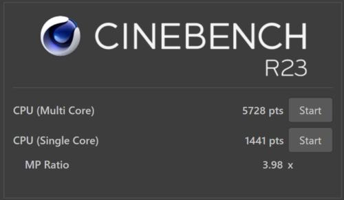 Cinebench R23のスコア