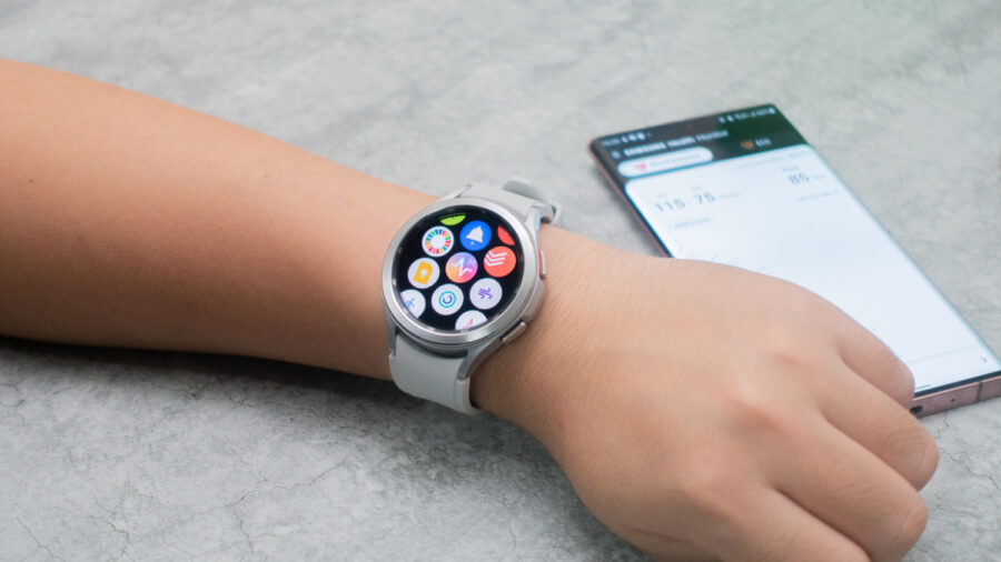 Galaxy Watch4 ClassicにインストールしたSamsung Health Monitor
