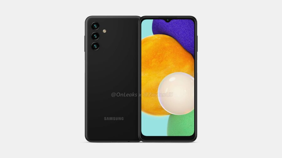 Galaxy A13 5Gのディスプレイと背面